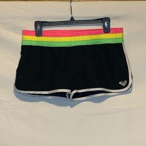 Roxy Black, Pink, Green, and Neon Board Shorts